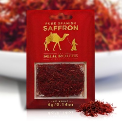 Silk Route Saffron * High Quality Grade A Spanish Saffron Threads 4 gram
