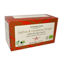 Saffron & Cardamom Delight™ - Certified 100% Organic Herbal Tea